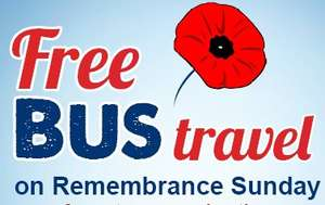 Free Bus Travel for Armed Forces / veterans / cadets - Manchester on Remembrance Sunday with First Manchester