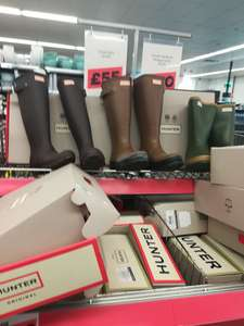 Hunter wellies various £40 in store Jacks discount offer