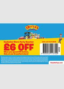 £6 off £15 spend at Smyths Toys Greenford