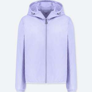 WOMEN HOODED POCKETABLE PARKA Purple for £14.90 at Uniqlo (C&C)