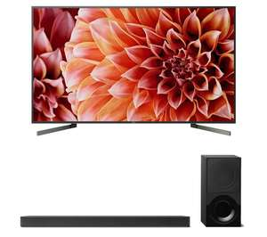 "SONY BRAVIA KD75XF9005 75"" Smart 4K Ultra HD HDR LED TV & HTXF9000 2.1 Sound Bar £1348 @ Currys"