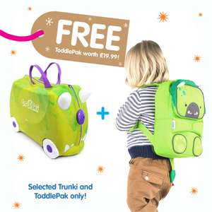 Trunki suitcase and backpack for only £30.39 inc p&p using code TRUNKI @ iwantoneofthose