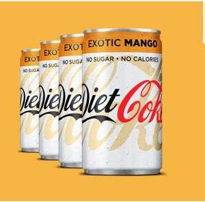 4 Free Cans of Mango Diet Coke using Amazon Alexa or Google Assistant