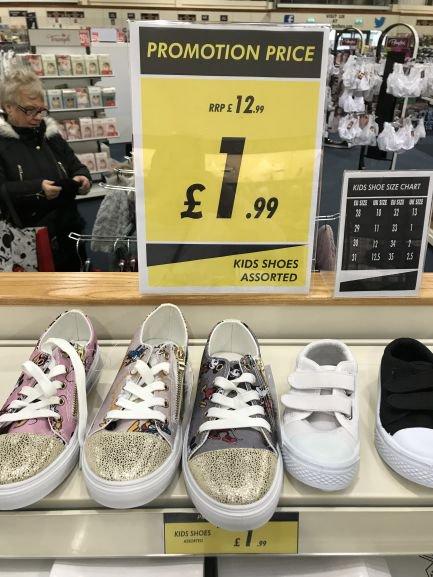 Kiddies soft trainer style shoes - £1.99 instore @ Watt Brothers (Glasgow)