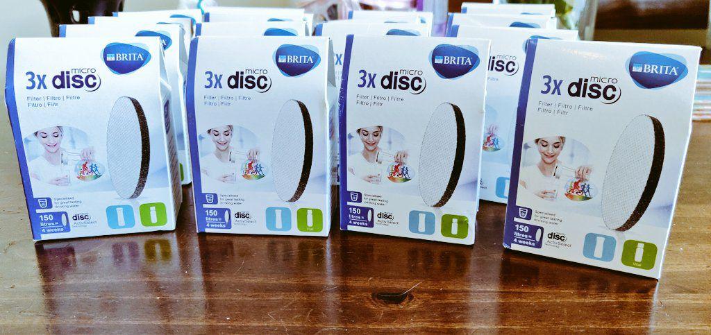 Brita microDisc 3 pack. 0.24€ @ Tesco Dublin