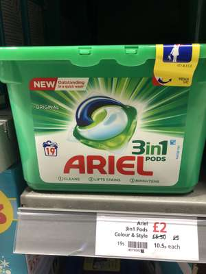 Ariel 3 in1 Pods Colour & Style £2 instore @ Waitrose & Partners