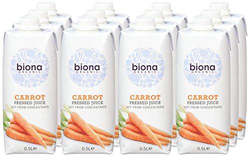 Biona organic carrot juice 500ml (Pack of 12) £6 @ Best4Deals Amazon
