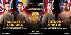 WBSS Season 2 Quarter-Finals - Glasgow - Burnett vs Donaire & Taylor vs Martin : Free Boxing World Series streaming live on Youtube