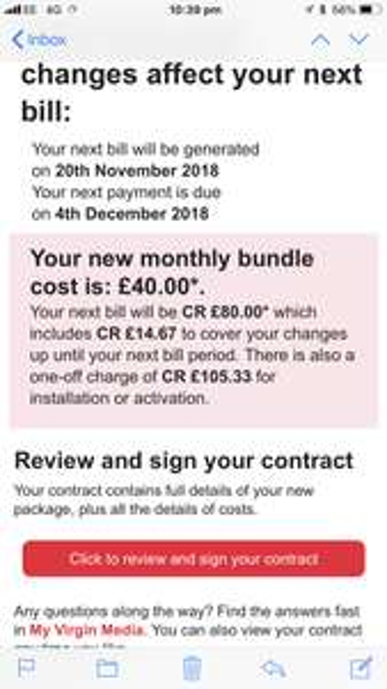 Virgin Media Retention - 350mb Fibre and anytime calls £40 p/m + £120 bill credit - total £360