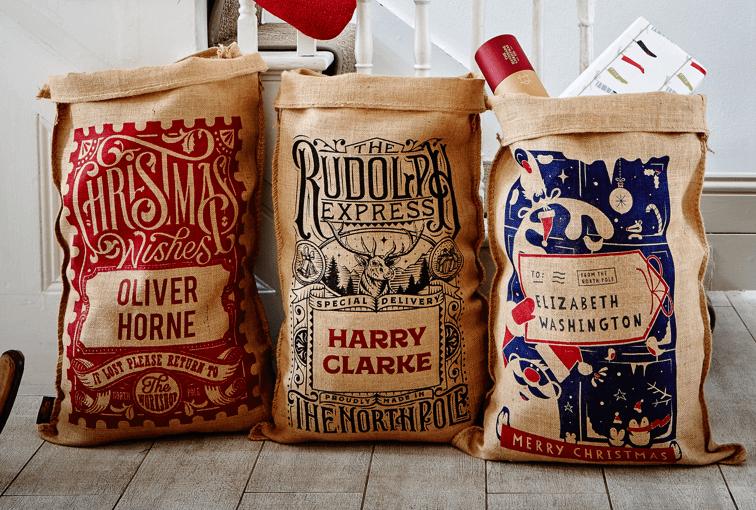 Half Price Personalised Christmas Sacks £11 @ Handmade Christmas co