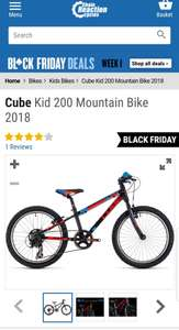 Black Friday Deals on kids Cube Bikes e.g Cube Kid 200 Mountain Bike 2018 £179.99 @ Chain reaction cycles