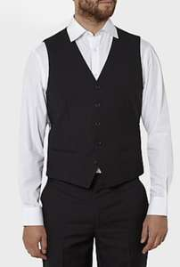 Men's black waistcoat £8 free c+c @ Asda George - More Added & Further Markdowns in Sale