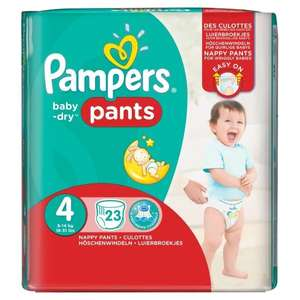 Pampers Baby-Dry Pants Size 4 Carry Pack 23 Nappies instore at Asda for £1