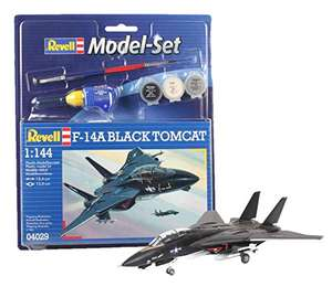 Revell Model Set F14A Black Tomcat £7.99 @ Amazon Prime / £10.98 non-Prime with paints, glue and brush