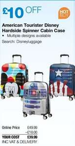 American Tourister Disney hardside Spinner Cabin Case 55cm (5 designs) @ Costco (free delivery)