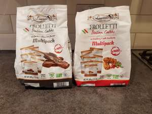 Frolletti Italian Cookies - chocolate and cranberry flavours £0.89 Home Bargains