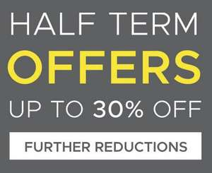 Half Term Offers up to 30% off at scottsmenswear! Ends at midnight!