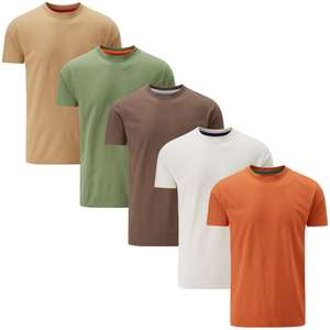 5 Pack T-Shirts £15.45 delivered or £10.50 if you spend over £30 @ Charles Wilson