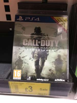 Call of duty modern warfare remastered £3 Asda. PlayStation 4 PS4
