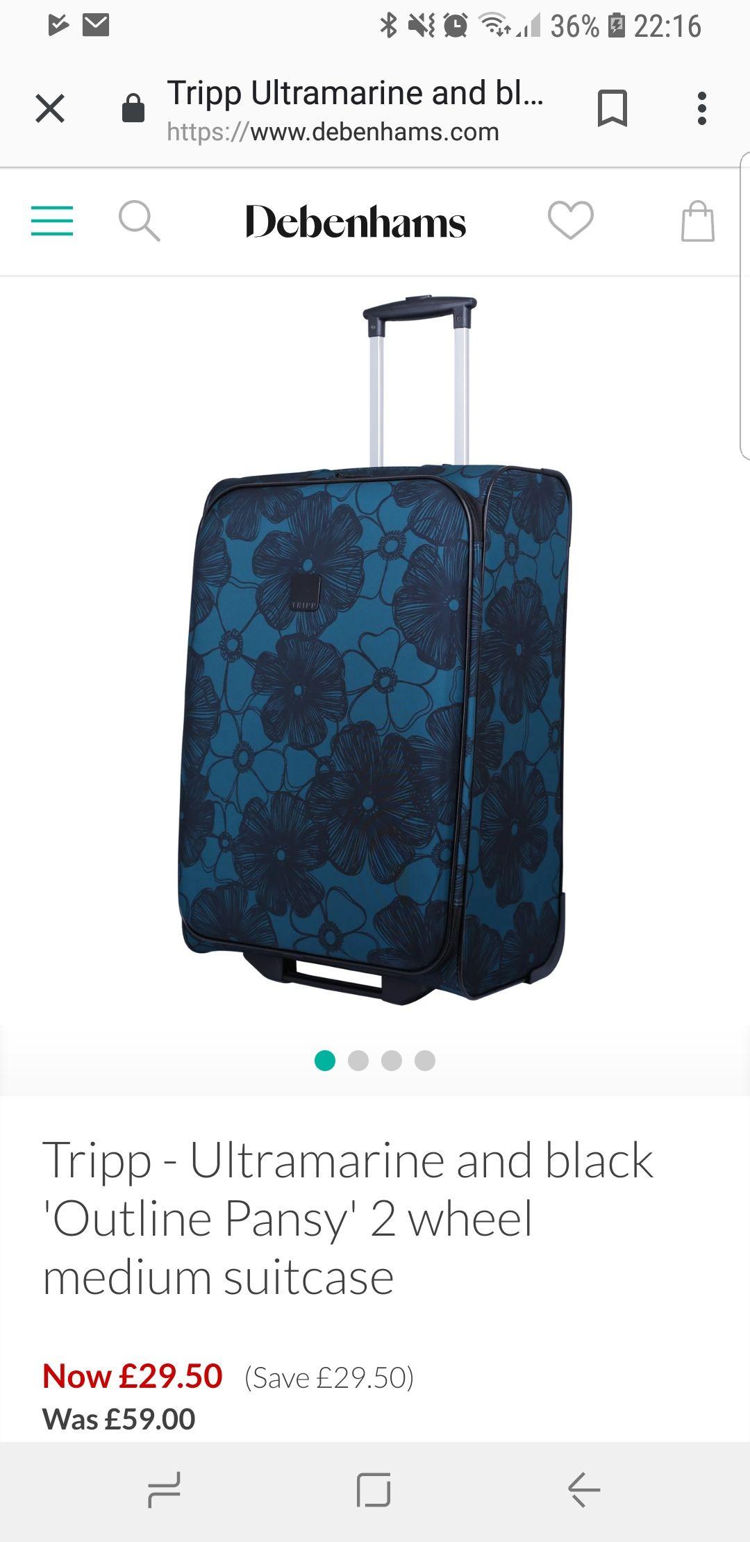 Tripp suitcase (medium) at Debenhams for £29.50