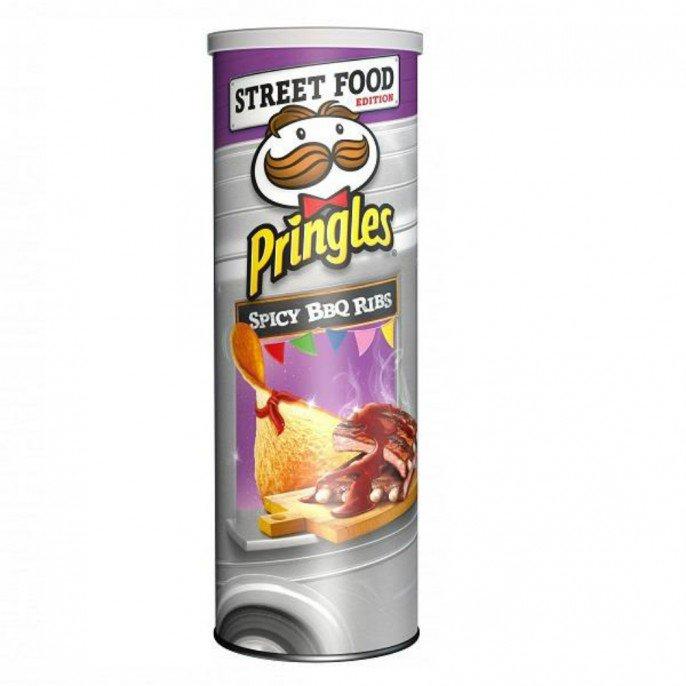 Pringles 200g SPICY BBQ RIBS 20p Poundstretcher