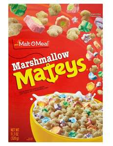 Malt-O-Meal Marshmallow Mateys Cereal 320g Half Price for £1.50 @ Tesco (from 07/11)