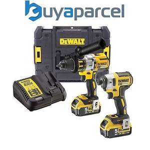 Dewalt DCK276P2T 18v Brushless DCD996 Combi Drill DCF887 Impact Driver 2 x 5.0ah - £239.98 at ebay /  buyaparcel-store