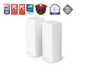 LINKSYS VELOP TRI-BAND WHW0302 AC4400 2Pack, £169.97 at Ebuyer