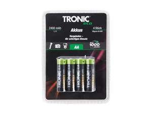 Tronic AA and AAA Rechargeable Batteries £2.99 @ Lidl