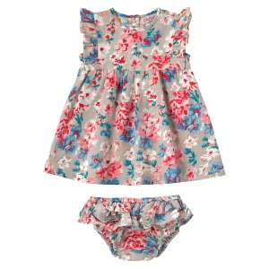 Cath Kidston baby/girl dresses further reduced in sale - WOODSTOCK FLOWERS FRILL DRESS WITH BRIEF - £8.50 (Free C&C or £3.95 Delivery)