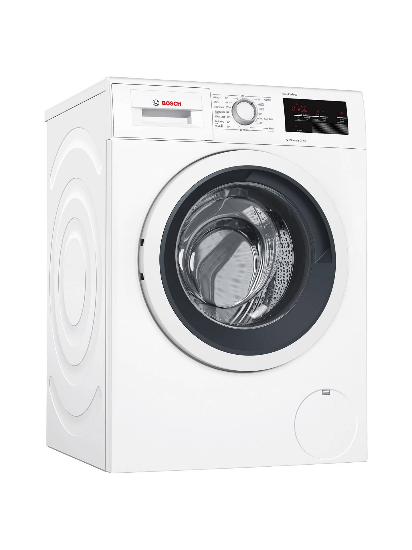 Bosch WAT28371GB Freestanding Washing Machine, 9kg Load, A+++ Energy Rating, 1400rpm Spin, White £399 @ John Lewis