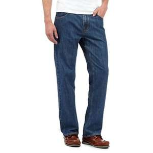 Debenhams Maine New England Mens' blue regular leg jeans, £15 (Prime) / £19.49 (non Prime) Sold by Debenhams and Fulfilled by Amazon.
