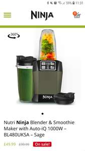 Nutri Ninja BL480 1000W Blender - £49.99 @ Ninja Kitchen