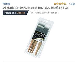 Harris Set 5 Platinum Paint Brushes £4.39 (Prime) £8.88 (Non Prime) @ Amazon