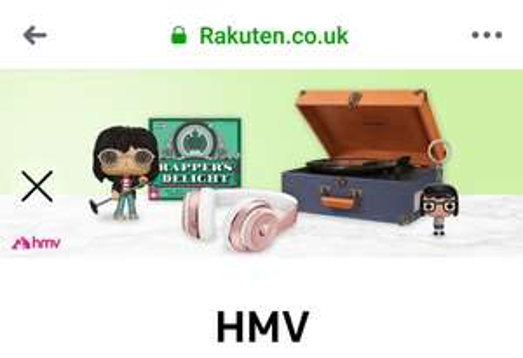 HMV +20% Super Points via Rakuten
