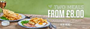 Two meals from £8 @ Sizzling Pub Co (Nationwide)