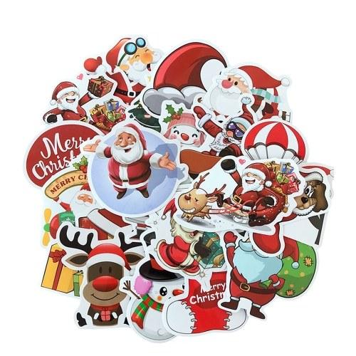 25pcs Merry Christmas 3D Carton Bubble Sticker £0.85 delivered @ Tomtop