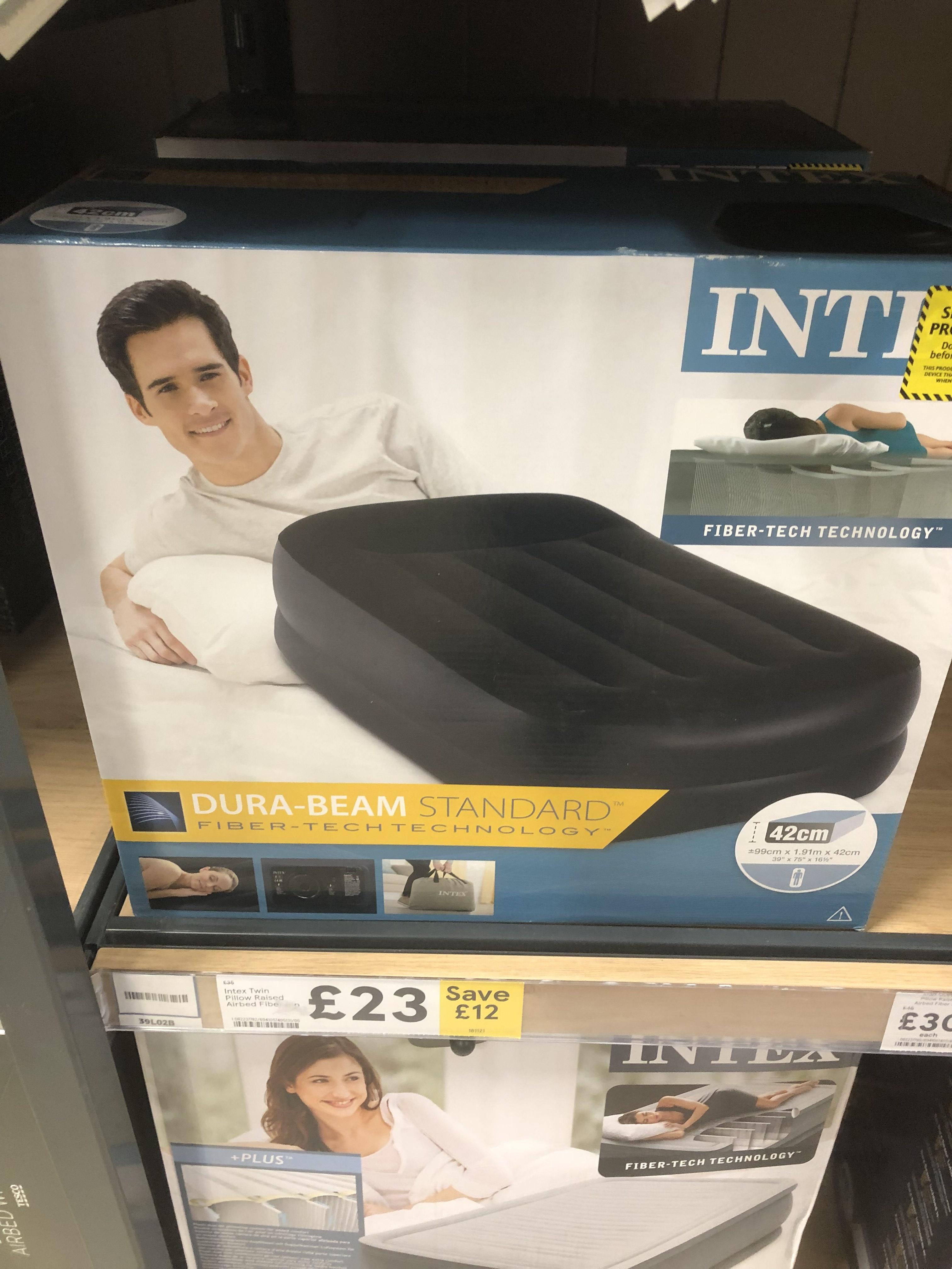 Intex Twin Pillow Raised Air bed £23 instore at Tesco Lichfield