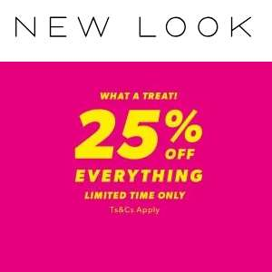 25% Off Everything at New Look online and in store