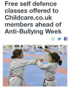 Free self defense classes for first 500 children @ Childcare