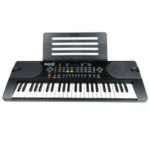 RockJam 49-Key Portable Digital Piano Keyboard with Music Stand, Power Supply and Note Key Stickers £22.99 @ Amazon