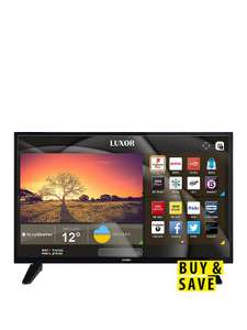 32 Inch, HD Ready, Freeview Play, Smart TV With Built-In DVD Player £189 @ Very