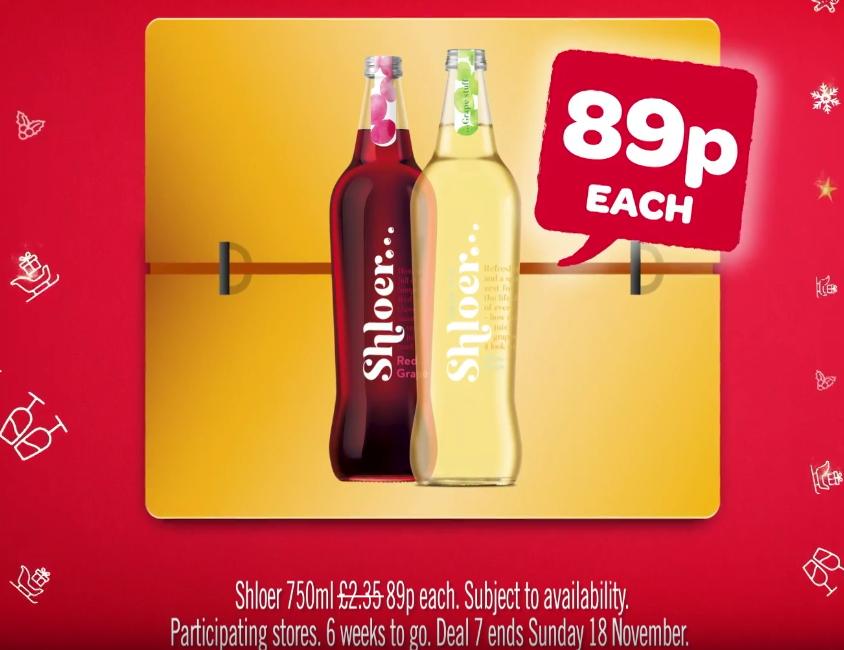 Shloer 750ml all 7 flavours (except sparkling) 89p @ Spar/Eurospar/Vivo/VivoXtra N.IRELAND ONLY from Monday 12th