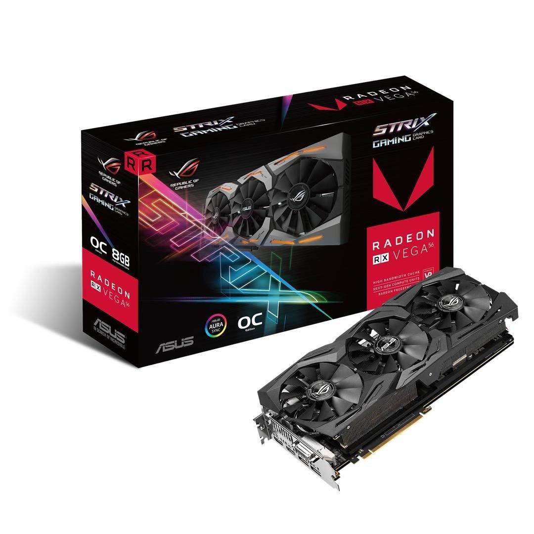 ASUS STRIX-RXVEGA56-O8G-GAM AMD ROG Strix RX VEGA56 OC 8 GB PCI Express Graphics Card £389.98 @ Amazon