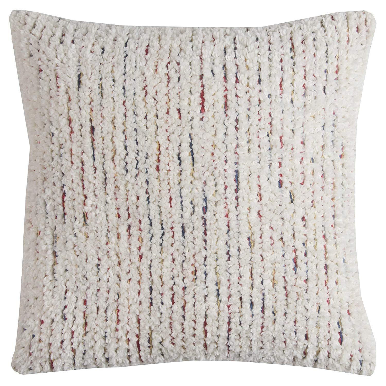 "Rizzy Home Stripe Textured Decorative Pillow, Ivory, 20"" x 20"" £7.93 (Prime) + £4.49 delivery non Prime @ Amazon"
