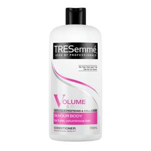 2 for £5.50 in Boots. TRESemmé Conditioner 24HR Body 900ml  Any 2 for £5.50 Boots ..