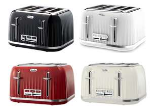BREVILLE Impressions 4-Slice Toaster (Black, Cream, Red, White) now £25 delivered @ Currys