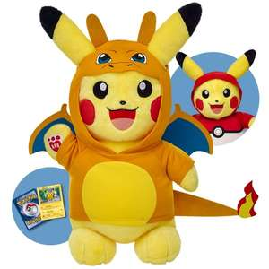 Pokemon and Xmas bundle sale with free delivery eg Pikachu bundle was £45.50 now £34.12 delivered with code more in op @ Build A Bear