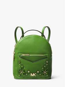 Jessa Small Floral Embellished Pebbled Leather Convertible Backpack £135 Michael Kors