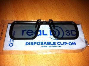 CLIP-ON 3D GLASSES FOR GLASSES WEARERS £1 @ VUE CINEMAS